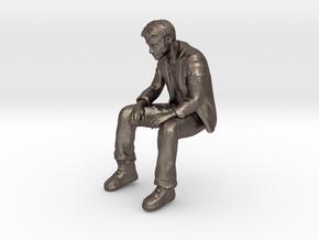A Little Sad Keanu Reeves in Polished Bronzed Silver Steel