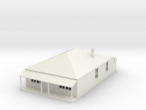 Old style House 1:120 in White Natural Versatile Plastic
