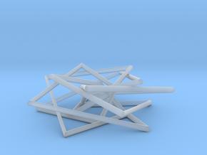 7 Strand Pentagonal Pendant in Smooth Fine Detail Plastic