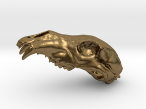 Bear Skull. WT-1. 6cm in Natural Bronze