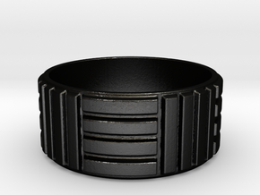 Men's Parkay Ring in Matte Black Steel