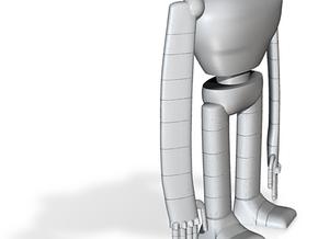 Laputa robot hollow out 0.03 in White Natural Versatile Plastic