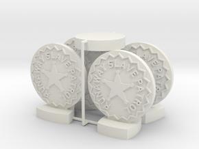 "Catcher Tokens (5pcs) - ""Badge"" version in White Natural Versatile Plastic"
