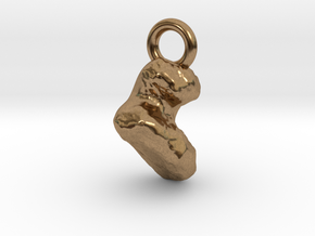 Comet 67P Keychain / Charm / Pendant in Natural Brass