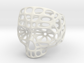 Hollow Skull - Size 10 (inner diameter = 19.76 mm) in White Natural Versatile Plastic