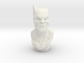 Dark Knight Bust (4.0in - 10.2cm) in White Natural Versatile Plastic