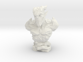 Gargoyle Bust 2 (4.4in - 11.3cm) in White Strong & Flexible