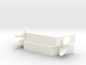Pair of Toe Plates & Spikes MOW 2013-14 boots ESB in White Processed Versatile Plastic