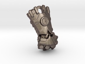 Power Fist Pendant in Polished Bronzed Silver Steel