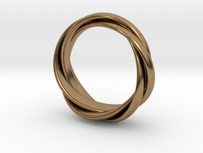 Torusring I   ( 20mm) in Natural Brass