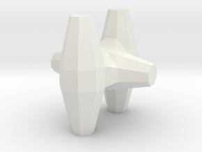 HO/1:87 Core-loc 3m solid in White Natural Versatile Plastic