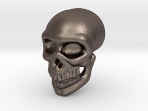 Skull grin in Polished Bronzed Silver Steel