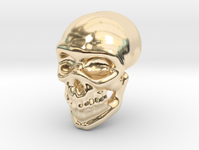 Skull grin in 14K Yellow Gold