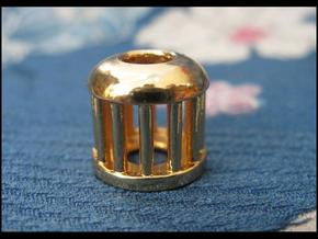 Birdcage Bead 1 (Silver/Brass/Plastic) in 14k Gold Plated Brass