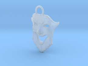 Laughing Greek Mask Pendant 1.5inches in Smooth Fine Detail Plastic