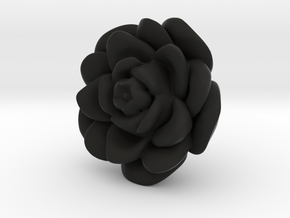 Rose Motif New in Black Natural Versatile Plastic