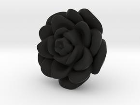 Rose Motif New in Black Natural Versatile Plastic