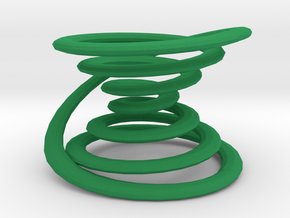Closed spiral in Green Processed Versatile Plastic