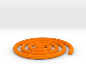 Spiral in Orange Processed Versatile Plastic