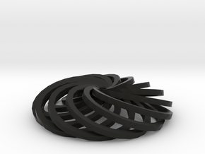 Twisted ring in Black Natural Versatile Plastic