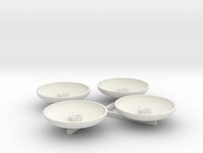 13-Landing Pads in White Natural Versatile Plastic