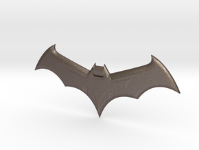 Mini Batarang in Polished Bronzed Silver Steel