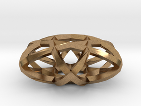 Ellipse pendant in Natural Brass
