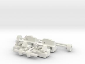 Konstal 105Na Drehgestellblenden und Kupplung in White Natural Versatile Plastic