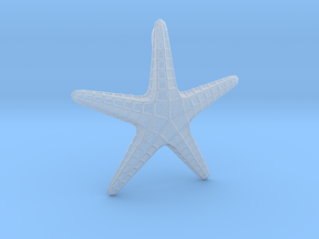 Starfish Pendant in Smooth Fine Detail Plastic