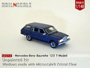 Mercedes-Benz T-Modell (British N 1:148) in Smooth Fine Detail Plastic