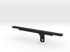 ThumbRail (Bridge, No Guard)-fits Fender Jazz (70' in Black Natural Versatile Plastic