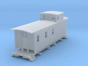 HOn3 30ft Caboose D in Smooth Fine Detail Plastic