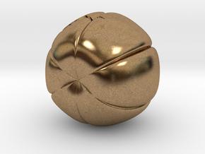 Pumpkin Keychain in Natural Brass
