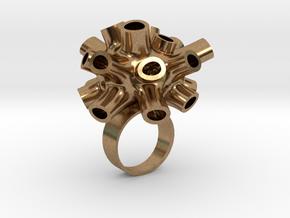 Tubey Ring  in Raw Brass