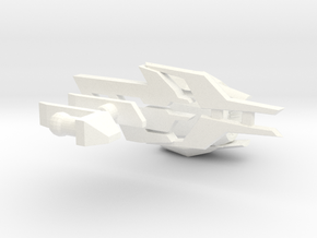 TF: Prime Beast & Hunter Handblaster  in White Processed Versatile Plastic