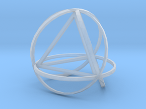 Tetrahedron inside rings in Smooth Fine Detail Plastic