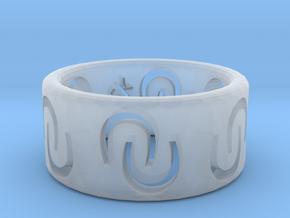 Ring of luck in Smooth Fine Detail Plastic