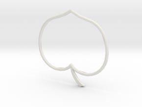 Heart apple in White Natural Versatile Plastic