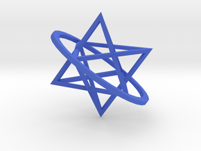 Double tetrahedron in Blue Strong & Flexible Polished