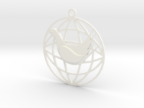 Pigeon of peace in White Processed Versatile Plastic