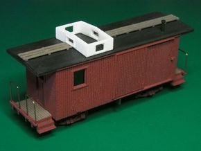 HOn3 Freelance Caboose (ex Boxcar) in White Strong & Flexible