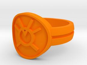 Orange Avarice Double Banded Sz 10 in Orange Processed Versatile Plastic