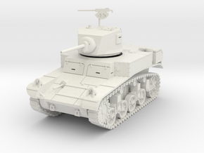 PV29A M3 Stuart -late turret (28mm) in White Natural Versatile Plastic