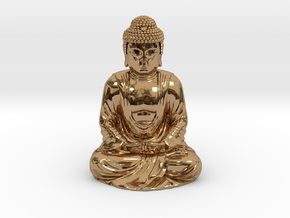 Buddha (1:160) in Polished Brass
