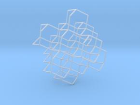 Diamond Lattice in Smooth Fine Detail Plastic