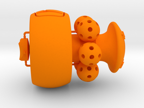 Wiffle Shifter Honda 6sp gear knob Helicoil in Orange Processed Versatile Plastic