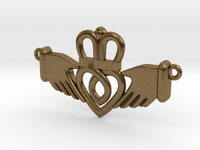 Claddagh Pendant in Natural Bronze