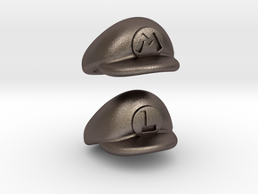 Plumber Cap Pack in Polished Bronzed Silver Steel