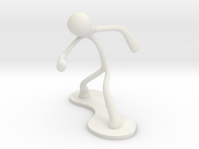 MTI Stickman-poses01 in White Strong & Flexible