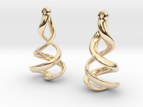 Helixial Elliptical Ear Rings in 14K Yellow Gold